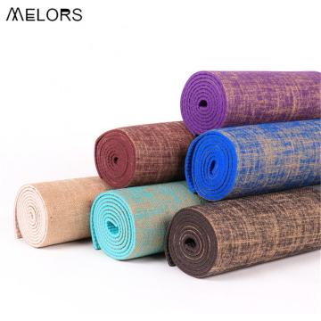 Tapis de yoga en jute de chanvre naturel Exercise Fitness de Melors