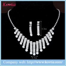 Комплект ювелирных украшений из никеля, украшенный кристаллами Нигерии, для дам