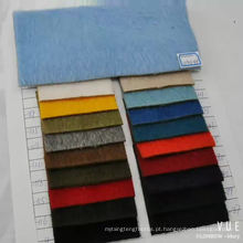 tecido de mistura de alpaca lã para cabelos longos de casaco de inverno