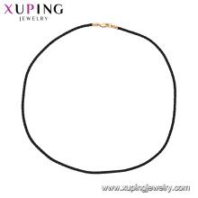 44856 xuping collier de ras de cou de corde simple et à la mode en électrodéposition de 18k