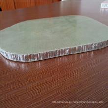 Favo de mel de alumínio com pele de fibra de vidro para painéis de chão