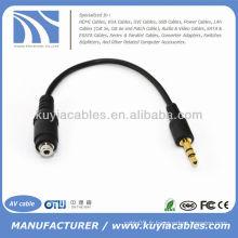 Câble audio 3,5 mm à 2.5 mm femelle Adaptateur audio pour téléphone MP3 ipod