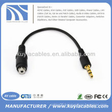 3.5mm Male to 2.5mm Female Stereo Jack Audio Cable Adapter for Phone MP3 ipod
