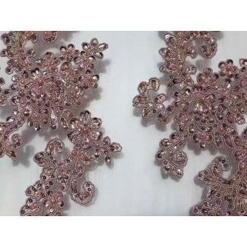 Perles Sequin superbe tissu de broderie pour robes de mariée