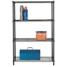 Epoxy Adjustable 4 Shelf Iron Storage Racks, NSF Approval
