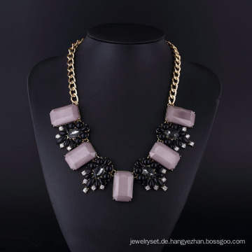 Lila Acryl Böhmen Stil Vergoldung Halskette