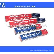 rouler la feuille d'aluminium d'emballage