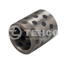 Customizable solid lubricating cast iron bushing graphite bearing