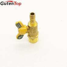 GutenTop высокое качество мужской резьба и PEX бабочка ручки латунный Кран шаровой газовый