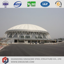 Estructura de entramado de tubo de gran tamaño para centro deportivo