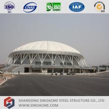 Grande estrutura de treliça de tubo de calha para centro esportivo