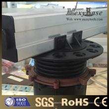 Foshan Höhenverstellbarer Kunststoffsockel, kann mit der Aluminiumschiene übereinstimmen.