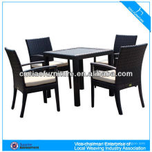 New Design wicker table and chairs outdoor furniture