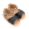 Läder Toddler Leopard Baby Boy Girl Sandals