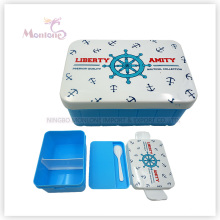 Compartment Bento Plastic Lunch Box with Utensils for Kids (920ml)