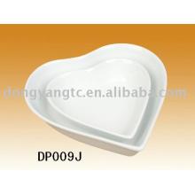 Factory direct wholesale heart shape porcelain bowl