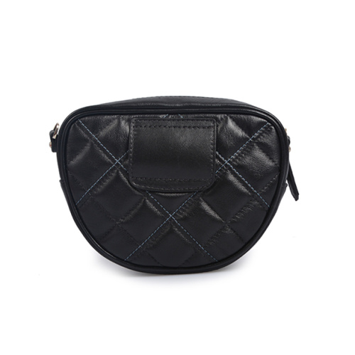 Lampe Leder Weave Grid Bag Schwarz Mini Bag