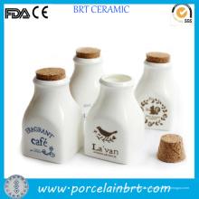 Белка печать мини фарфора молока бутылка с пробкой