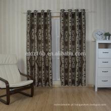 Nova chegada poliéster bordado janela cortina