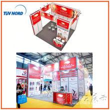 l'exposition portative ouverte d'expo de salon commercial en aluminium de deux côtés, système libre de stands d'expo de conception