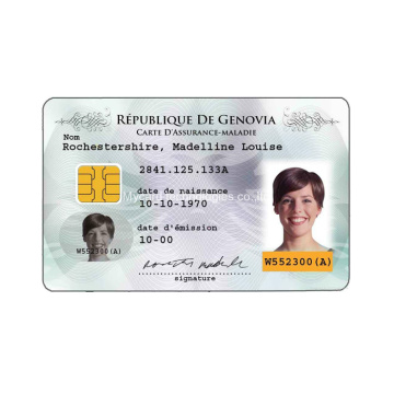 Impression CMJN EM4200 T5577 Carte d'identité avec photo en PVC