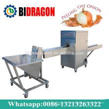 Máquina de processamento de cebola para descascar e cortar