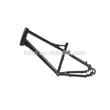 Marco de aleación de aluminio negro no plegable de nuevo diseño para bicicleta de neumático grueso de 20 pulgadas