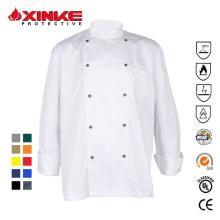 Xinke protector cómodo chef uniforme para restaurante