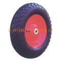 roda de borracha 3.50-8, com aro de aço soldada