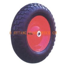 Gummi-Rad 3.50-8 mit geschweißten Stahl Felge