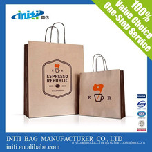 China wholesale cheap fashion Custom Drawstring Paper Bag
