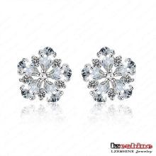 Boucles d'oreilles exquis de bijoux de fleur de mode / Brinco (CER0026-B)