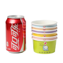 custom printed eco friendly disposable paper ice cream cup free sample