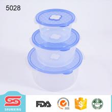 Eco-содружественные PP пластиковые микроволновая печь пищевых контейнер для хранения с крышкой