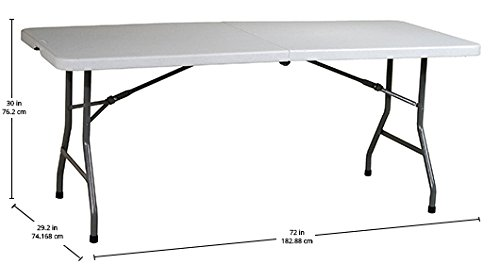 Table de rectangle polyvalent en résine