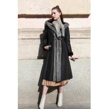 Lady Winter Hooded Mink Fur Coat