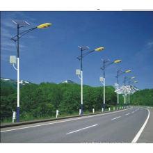 hot dip galvanized solar power street light pole