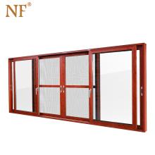 Interior aluminum tempered glass frosted pocket door