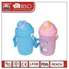 bouteille en plastique enfants, bouteille d'eau, enfants Gourde 0,4 L