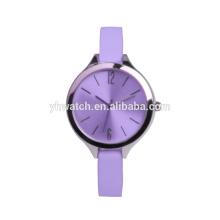 Relojes de señoras ultra delgados reloj de moda de perfume correa de color púrpura