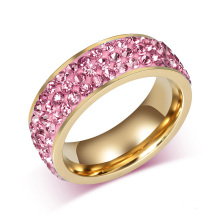 Projetos extravagantes feitos sob encomenda dos anéis das mulheres do ouro