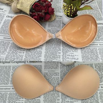 Reggiseno push up in silicone invisibile con reggiseno a coppa aperta