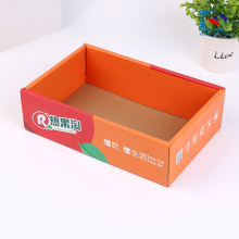 Custom logo design clothes packaging corrugated paper box