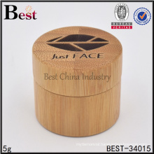 custom bamboo jars in stock small quantity available engrave logo cream jar all size bamboo wood jar cosmetic packaging