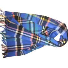 Mantones tejidos a cuadros de cachemira Xc09124A