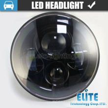 7 inch round led headlight angel eyes 12V 24V