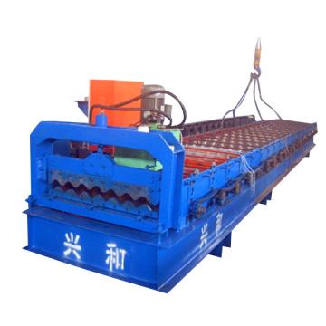 Máquina formadora de rolo de telhado ondulado para chapa de aço galvanizado