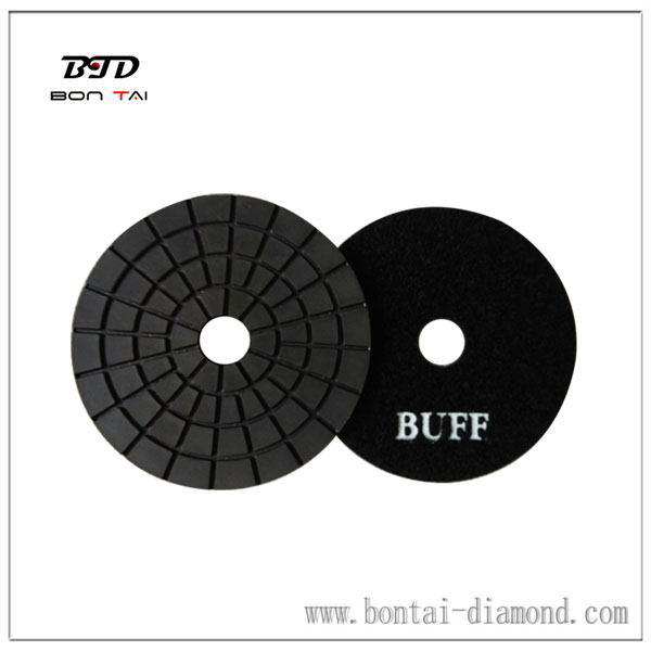 black buff pad