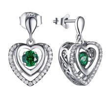 Edelstein Schmuck baumeln Ohrring 925 Silber Tanzen Diamant