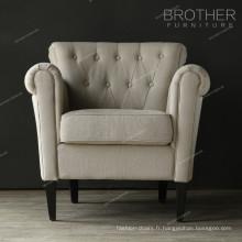 Nouveau style luxe apparence salon haut dossier chaise d'appoint